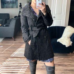 Zara Wool Blend Peacoat